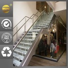 Stainless steel stair balustrade/rail posts used in supermarket