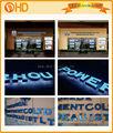 Acrylique lumière extérieure lettres/'éclairé signer des lettres/lettre lumières led signe