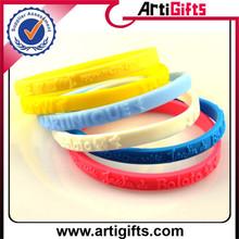 Eco-Friendly silicon material ecofriendly new thin silicone wristbands
