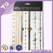 Tattoo Flash Type,Metallic Temporary Tattoos,Metallic Gold Foil Flash Jewelry Tattoos