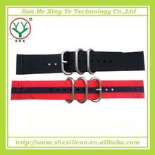 Latest design and popular style custom nylon wrist band, nylon watchband