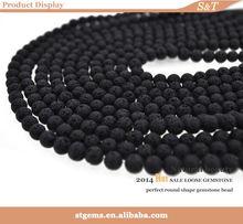 hot sale 8mm round lava material make brand men bracelets