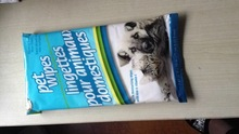 portable fur-lighting pet wipes, pet skin cleaning wet wipes