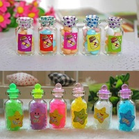Mini glass candy bottle, transparent sweet package, sugar glass bottle custom