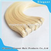 "European hair 22"" elegant hair White blonde tape hair extension"