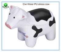 10.8x5.1x8.8cm customized PU stress ball cow/kids gifts PU cow shape stress ball/kids toys soft PU foam cow