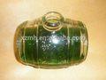 Decorativos de vidrio cubo de vino, vidrio barril de vino