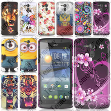 Various printing Ultrathin TPU Soft case cover bag for Acer Liquid E700 Case