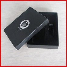 High Quality Black Luxury PU Leather Silver Hot Stamping Logo Perfume Boxes