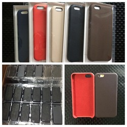 For Apple iPhone 6 Plus Black Leather Case Official Apple Product MGQX2ZM/A
