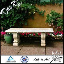 Stone granite park bench