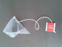 empty nylon pyramid tea bags for sale