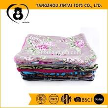 Flower printing berber fleece dog cushion