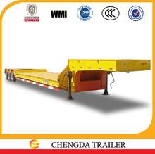 3 axle lowboy trailer trucks for transporting heavy cargo best selling in Tanzania