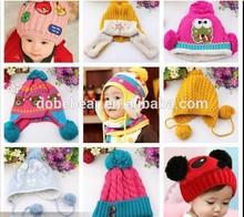2014 hot design fashion winter warm handmade crochet baby hat