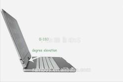 Aluminum Metal Wireless Keyboard Bluetooth 3.0 Rotatable Case for iPad Air for iPad 5