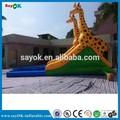 Comercial engraçado ao ar livre inflável slide piscina, corrediça inflável com piscina