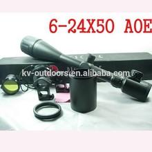 Best 6-24x50 AOE Adjustable Illuminated Tactical Gun Riflescope w/ Extinction cylinder Hunting Rifle Scope