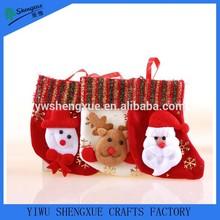 hot selling Xmas stocking santa stocking christmas boots xmas sock made in china