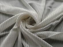 100%silk georgette with warp stripe fabric