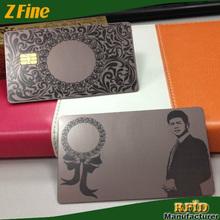metal gold card samples printing