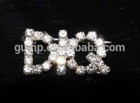custom letter rhinestone brooch pins