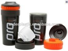 Eco-friendly sports bottle 25OZ plastic protein shaker bottle