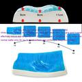 melhor qualidade de venda quente de silicone em gel travesseiro