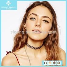 Hot Selling Fashion Stretch Tattoo Chocker Necklace/Plastic Chocker necklace