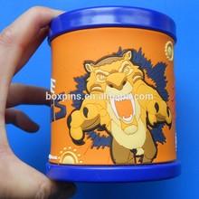 cartoon custom logo /size silicone mugs,soft pvc tea /coffee/supper travel mugs/cup with handles