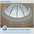 10 anos de garantia uv revestimento do telhado da construção clarabóia de cúpula