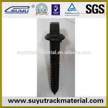 Railway wooden screw sleeper screw spike