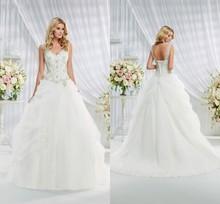 Hot sale Fashion High quality Real Sample Sweetheart A-line Organza Ruffle wedding dress