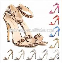 British style sexy leopard cusp wedding banquet dacing shoes night club part thin heels women's high heels sandal shoes(M40033C)