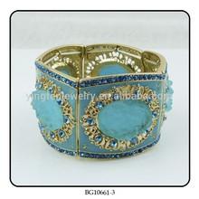 EVER FAITH Wedding Elastic Stretch Bracelet Clear Austrian Rhinestone bracelet