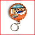 Venda quente chave de decoração personalizada finder chave, casa forma chaveiro de borracha