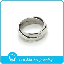F-R0211 Gift,Party,Wedding Occasion Stainless Steel Silver Jewelry Rings Multi Ring