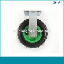 Alibaba China Medium Duty Zinc Plated Fixed Rubber Caster Wheel