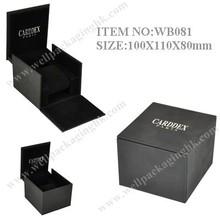 WB081 popular shape, black, gift WATCH BOX