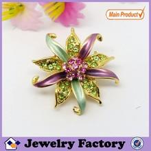 Fashion crystal rhinestone flower brooch for wedding invitations#5700
