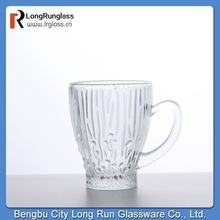 LongRun new product for 2015 beautiful craved glassware tea &coffee mugs