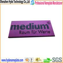 cheap beautiful 3D stamping metal letter label logo