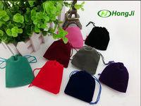 Custom Hot Stamping Embroidered Drawstring Mobile Velvet Pouch Bag