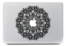 For Macbook Air Sticker, Carving Black Flower and Leaf for Macbook Decal Sticker