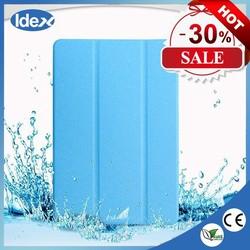 Ultra Thin Slim Light Three Fold Transparent Clear Silk line Leather Case For Ipad 5 Air ipad Mini