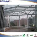 Ronde vue patio, toit maison de verre