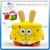 Mini Qute Mask Bear 6.5cm Kawaii boy gift SpongeBob SquarePants plastic reloading action figure Cartoon toy car Decoration model