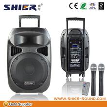 15 inch woofer fm radio usb sd card reader mp3 mp4 speaker 1000w rms speakers