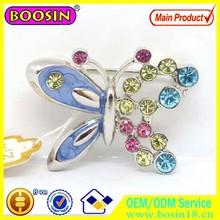 Extraordinary Western Wedding Brooch, Butterfly Crystal Brooch, Wholesale Brooch For Girls #5543