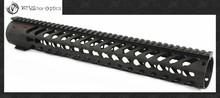 Vector Optics KeyMod 15 Inch Free Float One Piece Handguard Rail Mount System BLACK fit M16 AR15 Platform Rifles